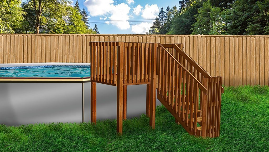 Above Ground Pool Deck Kit # 1