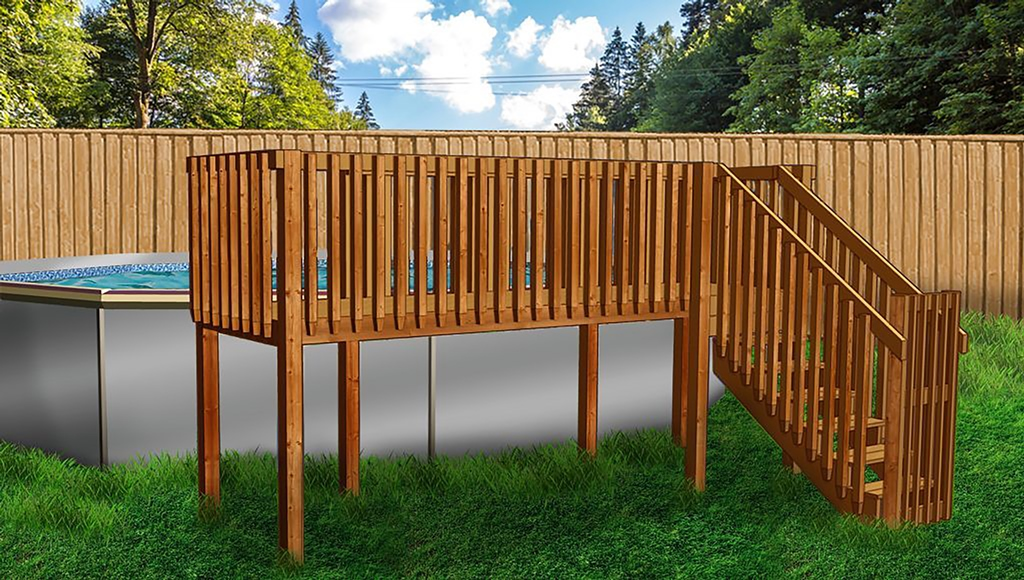 Above Ground Pool Deck Kit # 2 (4' X 16')